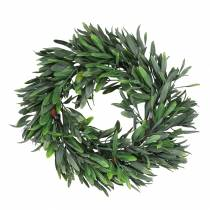 Olivkrans konstgjord grön Ø28cm dekoration medelhavs