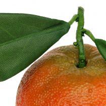 Orange med blad 7cm 4st