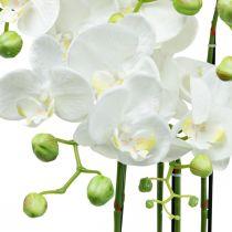 Konstgjorda orkidéer i en kruka vit konstgjord växt 63cm