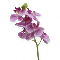 Orkidé med glitter, rosa 35 cm