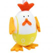 Målade ägg som en tupp för att hänga i en blandning 7,5 cm 12 st