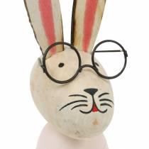 Påskdekoration, kanin med glasögon, vårdekoration, metallkanin, bordsdekoration
