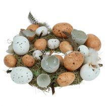 Påskkrans med ägg Ø24cm naturligt, vitt