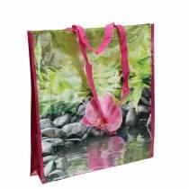 Shoppingväska med handtag Happiness plastic 38 × 10 × 40cm