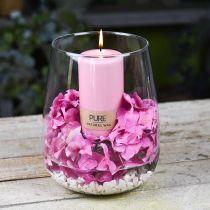 PURE pelarljus 130/70 Rosa dekorativt ljus hållbart naturvax