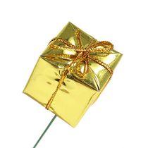 Paket 2,5 cm på tråden guld 60st