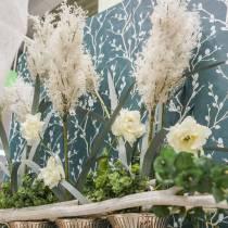 Pampas gräs vita konstgjorda torra gräs konstgjorda växter