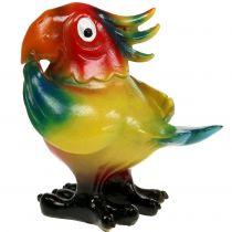 Papegoja figur 11,5 cm färgad 1 st