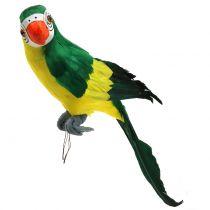 Dekorativ papegoja grön 44cm