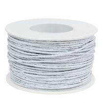 Papperstråd vit 2mm 100m