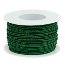 Papperssladdlindad Ø2mm 100m grön