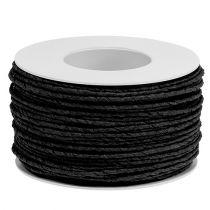 Pappersladdtråd insvept Ø2mm 100m svart