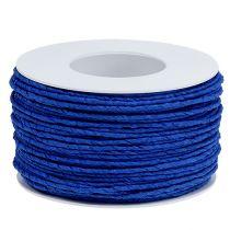 Pappersladdtråd insvept Ø2mm 100m blå