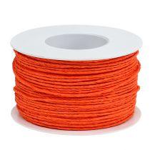 Papperssladdlindad Ø2mm 100m orange