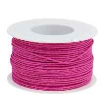 Papperssladdlindad Ø2mm 100m rosa