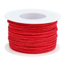 Pappersladdtråd insvept i Ø2mm 100m röd