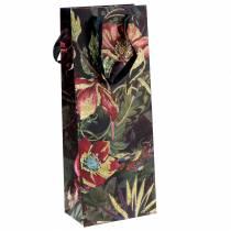 Presentpåse för flaskor med blommor 8,5 cm x 14 cm H36cm