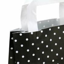 Papperspåse svart med prickar 22 cm x 10 cm x 31 cm 25 st