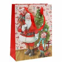 """Presentpåse papperspåse """"Santa Claus"""" H24cm"""