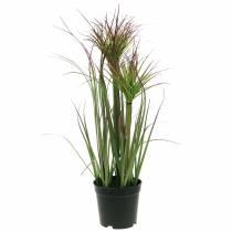 Konstgräs i en kruka, grön, röd lila 45 cm