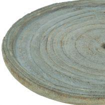 Dekorativ platta Paulownia trä Ø22cm