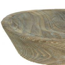 Dekorativ skål Paulownia trä oval 44 cm x 19 cm H8cm