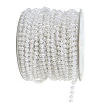 Pärlband vit Ø4mm 20m