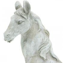 Hästhuvud byst deco figur häst keramik vit, grå H31cm