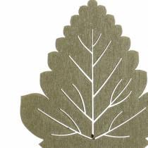 Växtpluggblad 8-10cm naturligt / grönt / lila 24st