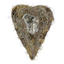 Växthjärta av vinstockar och lavar naturliga 25 cm x 19 cm