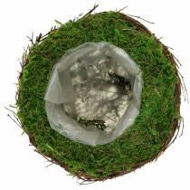 Planterskål rotting, mossa Ø19cm H13cm