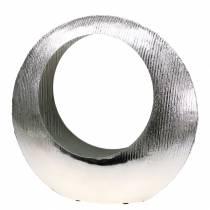 Växtring stående silver 40cm x 12 cm H38cm