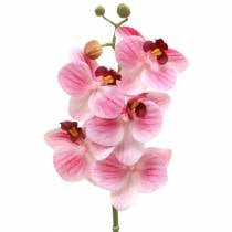 Konstgjord orkidégren Phaelaenopsis rosa H49cm