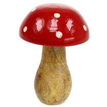 Trä paddestol röd 15,5 cm