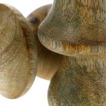 Svamp mangoträ naturlig träsvamp höstdekoration Ø5cm H7,5cm 6st