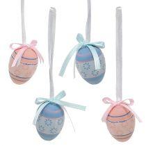 Plastägg för att hänga 4 cm blå-rosa mix 36st