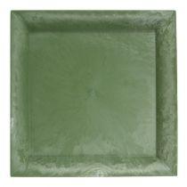 Plastplatta grön fyrkant 19,5 cm x 19,5 cm