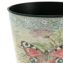 Dekorativ kruka vintage fjäril Ø17cm