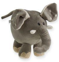 Plysch elefant 20 cm grå