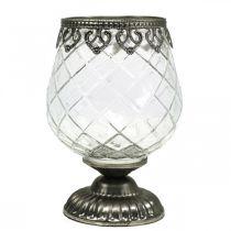 Teallight holder cup antik Ø13cm H18,5cm