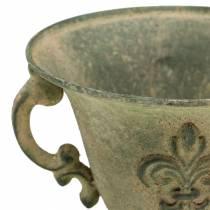 Koppskål vintage grön Ø15cm H14cm