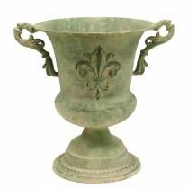 Koppskål antikgrön Ø20cm H24cm