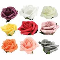 Foam-Rose Ø6cm olika färger 27st