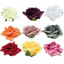 Foam-Rose Ø7.5cm olika färger 18st