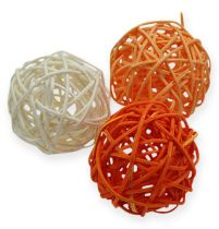 Rottingbollar 4,5 cm orange aprikos 30st