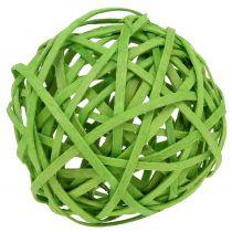 Rottingboll ljusgrön Ø6cm 6st