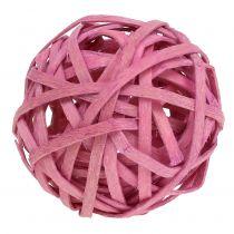 Rotting boll rosa Ø4cm 12st