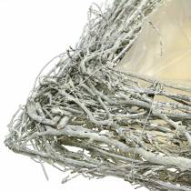 Växtkuddar grenar vit tvättade 40cm x 40cm H10cm