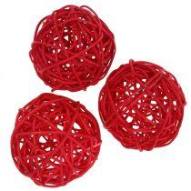 Rottingboll röd Ø7,5cm 15st