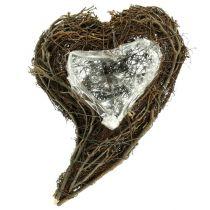 Vinstock hjärta natur 15cm x23cm x5cm 4st